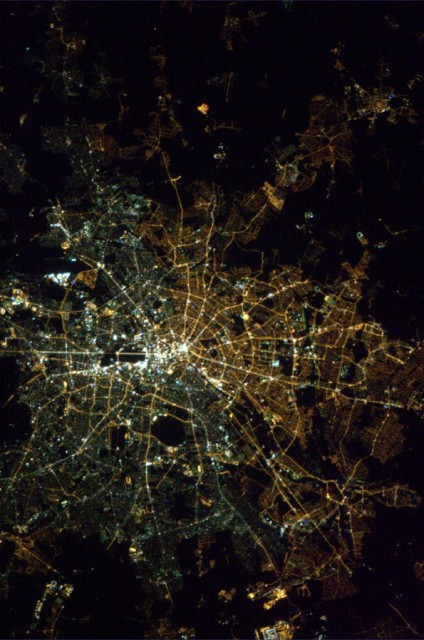 Berlin at night. Amazingly