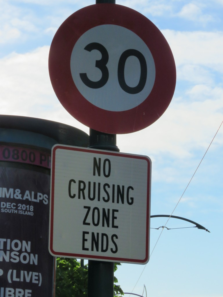 NZ: Christchurch No Cruising Zone